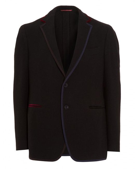Etro - Blue Blazer, Contrasting Edges Jersey Navy Jacket for Men - Lyst