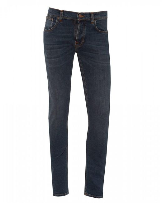 Nudie Jeans Blue Grim Tim Jeans, Slim Fit Denim for men