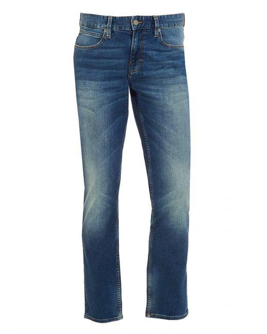 BOSS by Hugo Boss - Blue Orange63 Jean, Slim Fit Whiskered Mid Light Jeans for Men - Lyst