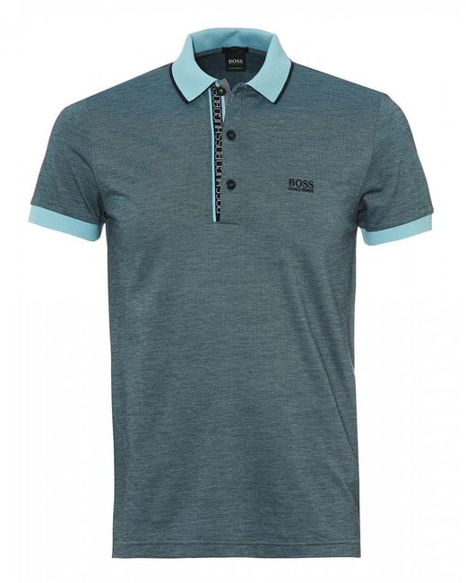 BOSS - Paule 4 Polo, Slim Fit Sky Blue Polo Shirt for Men - Lyst