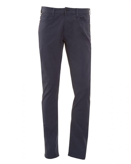 Armani - J06 Jeans, Navy Blue Slim Fit Denim for Men - Lyst