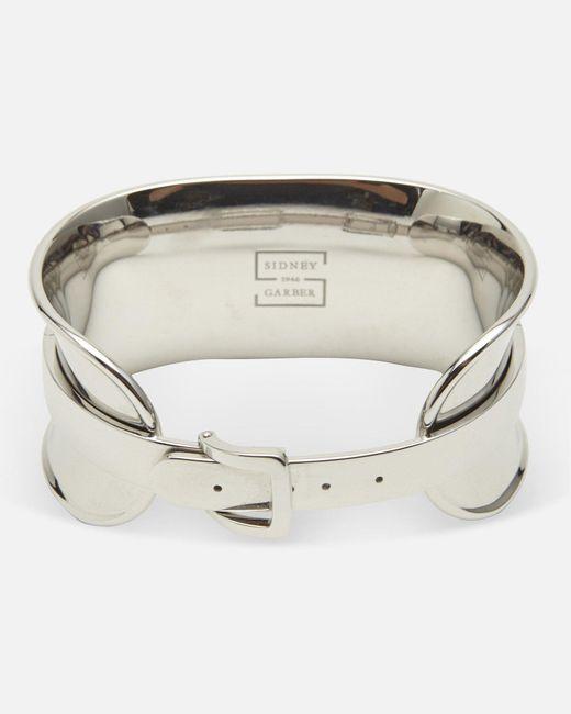 Sidney Garber - Natural Silver Buckle Bracelet - Lyst