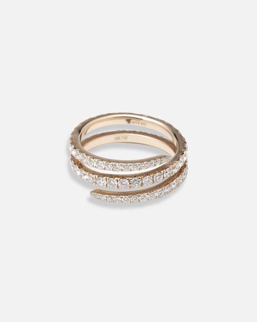 Anita Ko | Metallic Diamond Coil Ring | Lyst