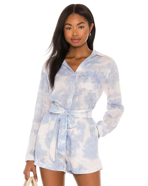 Bella Dahl トップ In Blue. Size Xs, M, L.