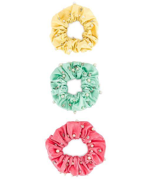 Резинки Для Волос Miami В Цвете Мульти - Pink. Размер All. MaryJane Claverol, цвет: Multicolor