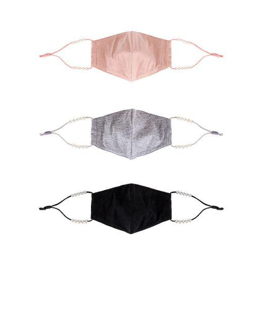 Набор Масок Для Лица В Цвете Classic Pearl Lele Sadoughi, цвет: Multicolor