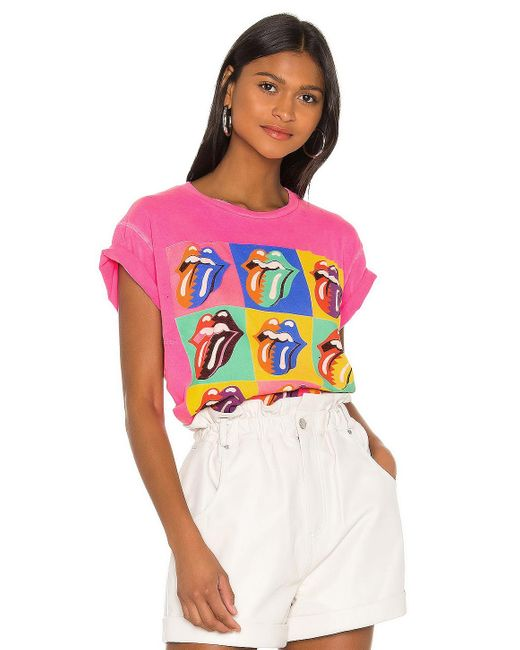 MadeWorn Rolling Stones Tシャツ Pink
