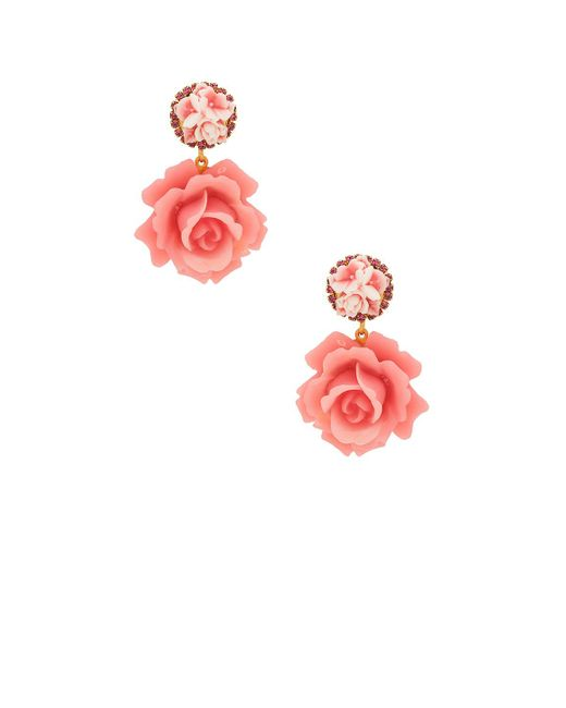 Elizabeth Cole - Pink Adelade Earrings Earrings - Lyst