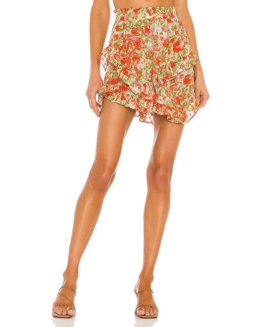 MISA Los Angles Orange Palma Skirt