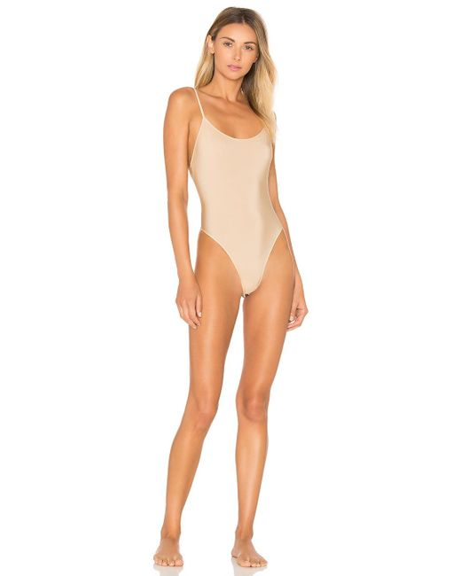 Only Hearts - Natural Second Skins Lowback Bodysuit In Nude - Lyst