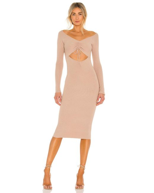 Lovers + Friends Natural Lovers And Friends Aphra Dress