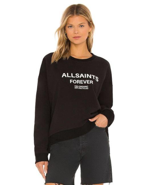 AllSaints Forever Lo スウェットシャツ Black