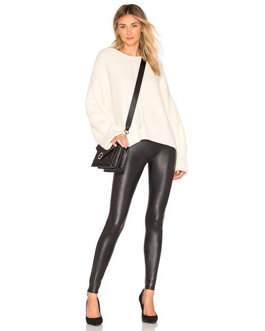 Spanx Faux Leather レギンス Black