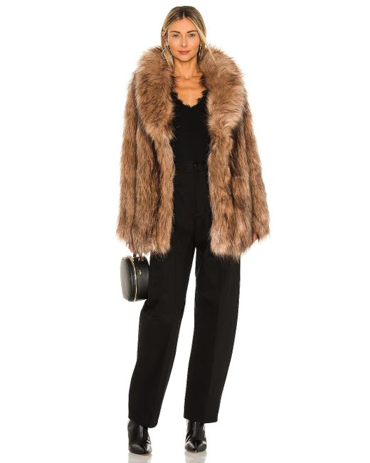 Unreal Fur Brown Fascination Faux Fur Jacket