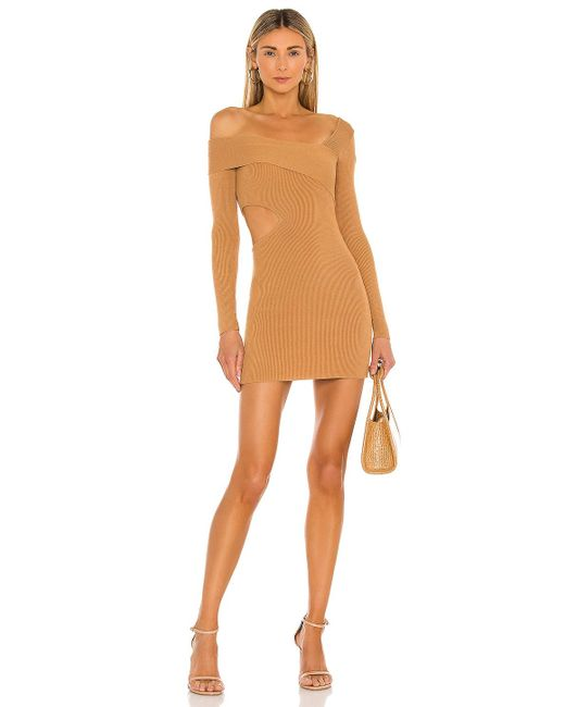Nbd Brown Anora Sweater Dress