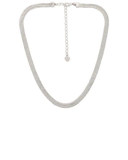 Ожерелье Gia В Цвете Серебряный BaubleBar, цвет: Metallic