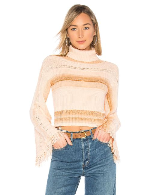 Free People - Pink Close To Me Pullover In Peach - Lyst