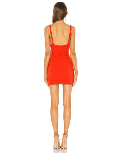 Privacy Please Shana スリムミニドレス Red