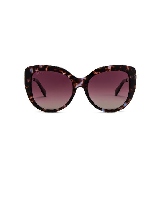 Солнцезащитные Очки Avery В Цвете Wine Tort & Wine Gradient - Burgundy. Размер All. DIFF, цвет: Multicolor