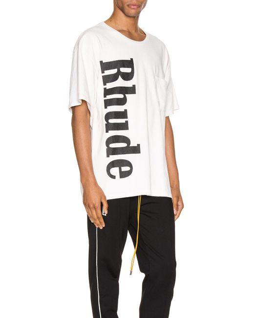 メンズ Rhude ロゴ Tシャツ White
