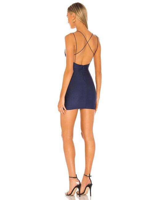 Платье С Плетением На Спине Grecia В Цвете Синий superdown, цвет: Blue