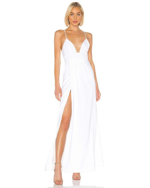 Lovers + Friends White Anyssa Gown