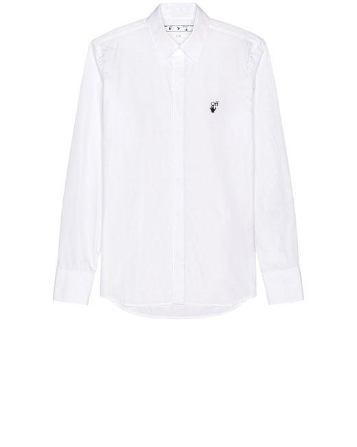 Рубашка В Цвете Белый Off-White c/o Virgil Abloh для него, цвет: White