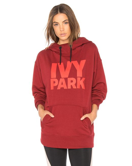 ivy park casual hoodie in red lyst. Black Bedroom Furniture Sets. Home Design Ideas