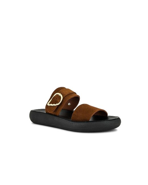Ancient Greek Sandals Preveza Comfort スライド Brown