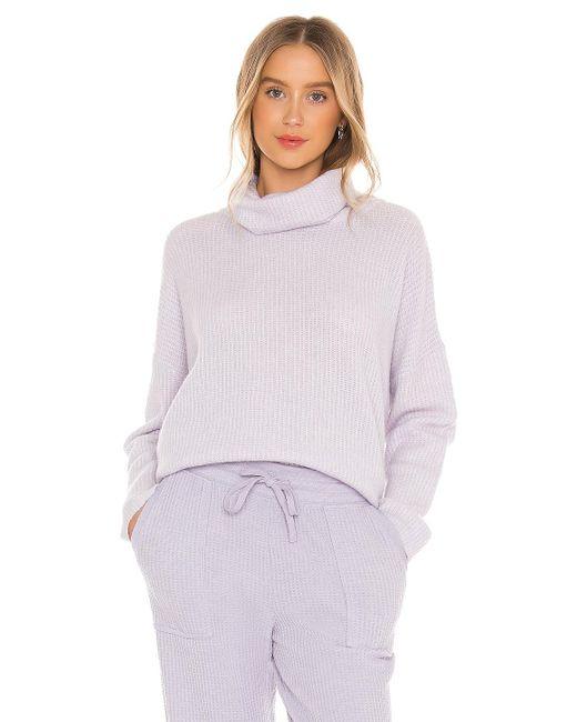 Splendid Funnel Neck セーター Purple