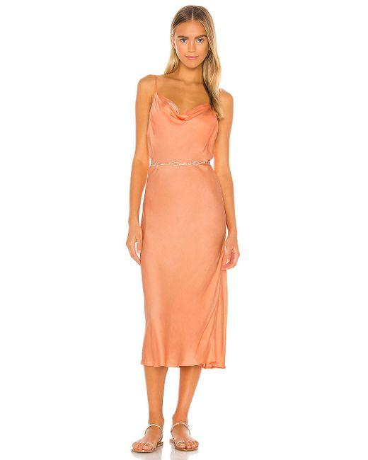 Young Fabulous & Broke Evie スリップドレス Orange