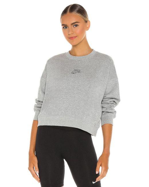 Nike Gray NSW Crew Zero Waste Sweatshirt