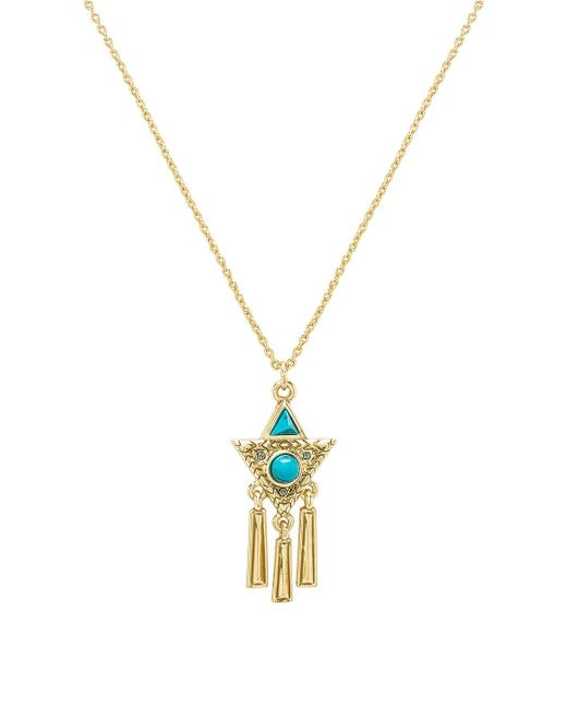 House of Harlow 1960 - X Revolve Durango Triangle Necklace In Metallic Gold. - Lyst