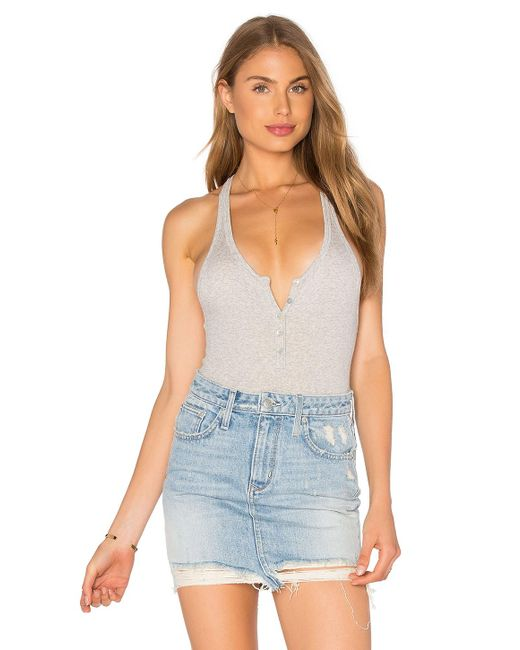 Free People | Gray Hooked On You Bodysuit | Lyst