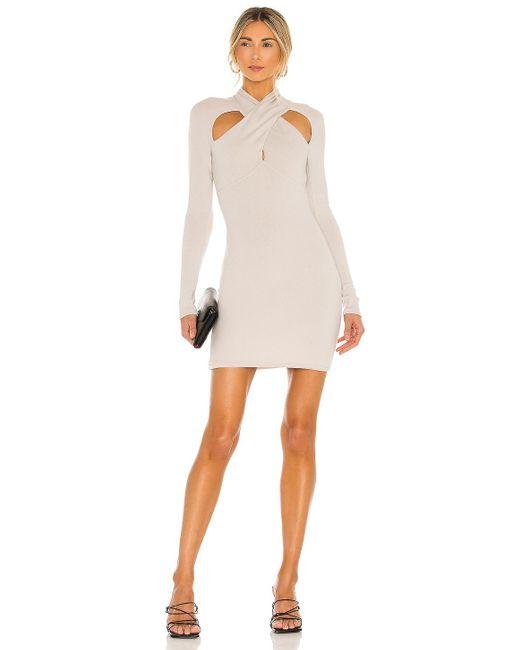 Nbd Natural Crossover Mini Dress
