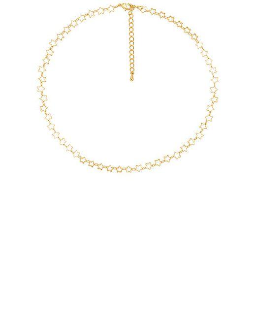 Five And Two - Metallic Deja Star Choker In Gold. - Lyst