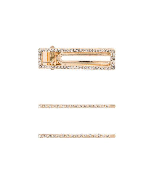 Набор Заколок Для Волос Lively В Цвете Золотой 8 Other Reasons, цвет: Metallic