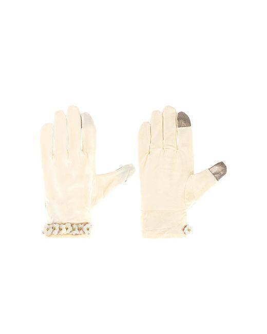 Стирающиеся Перчатки В Цвете Ivory Lele Sadoughi, цвет: White