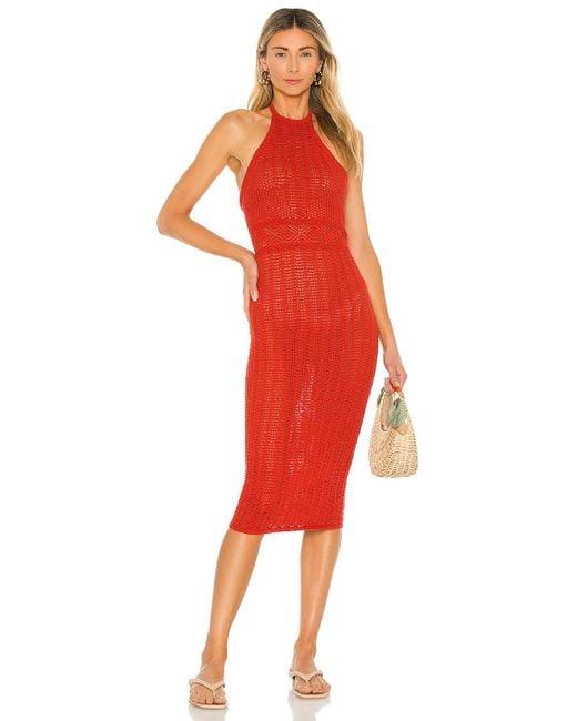 Lovers + Friends Red Rae Halter Dress