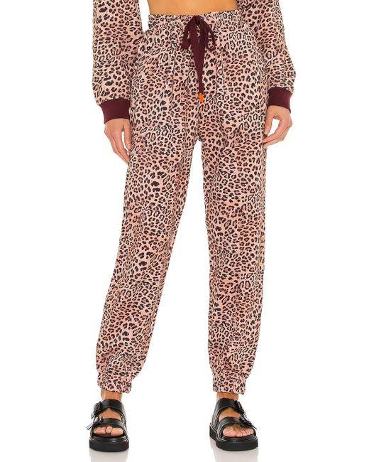 The Upside Leopard パンツ Brown