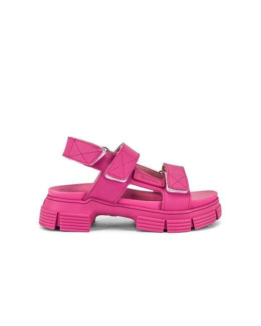 Ganni サンダル Pink