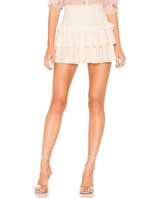 LoveShackFancy Natural Dana Skirt