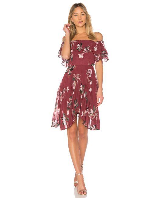 Keepsake - Last Dance Ruffle Mini Dress In Red - Lyst