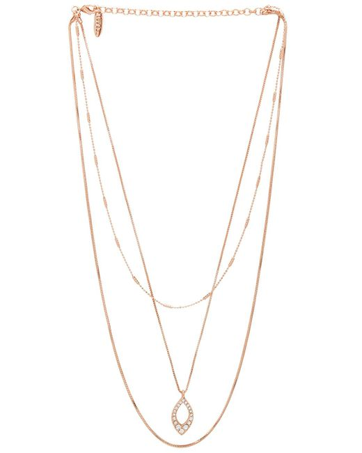 Luv Aj - The Pave Marquise Charm Necklace In Metallic Copper. - Lyst
