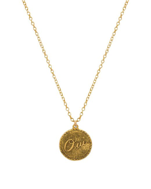 Natalie B. Jewelry - Oui Charm Necklace In Metallic Gold. - Lyst
