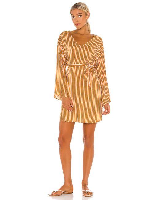 Мини Платье Stripe В Цвете Amber Seafolly, цвет: Yellow