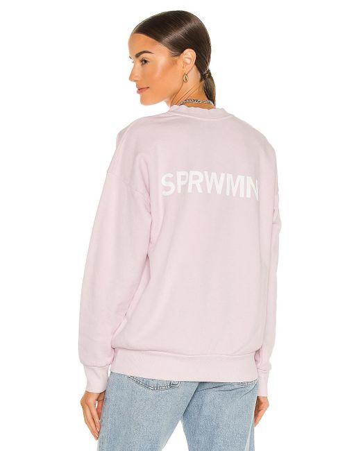 Свитшот В Цвете Бледно-розовый SPRWMN, цвет: Pink