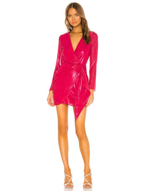 ROBE BRIGID Lovers + Friends en coloris Pink
