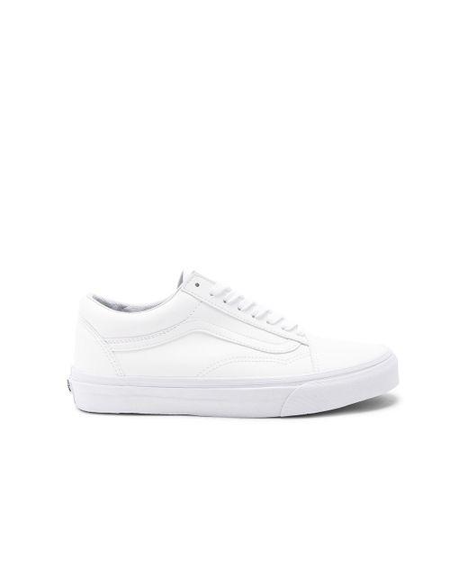 Кроссовки Old Skool В Цвете Настоящий Белый Vans, цвет: White