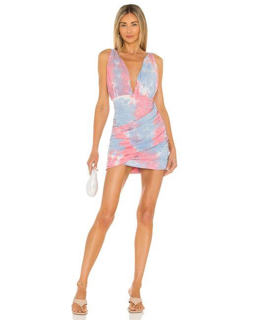 Мини Платье С Рюшами Georgie В Цвете Насыщенный Розовый superdown, цвет: Pink